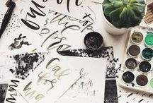 Calligraphy obsession / by CRAFTED | DIY+HANDMADE + INTERIORS