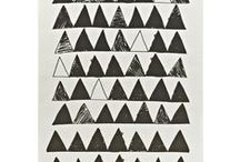 Triangle obsession / by CRAFTED | DIY+HANDMADE + INTERIORS