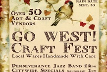 GO WEST! Craft Fest, Sept 29th 2012 / Sixty of Philly's finest vendors show their stuff at the Woodlands. See examples here and http://gowestcraftfest.blogspot.com for all the details!