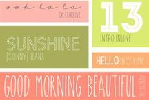m e d i a  //  fonts / This board is font-astic! / by Saxon {Let's Drink Coffee, Darling}