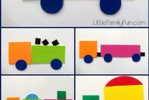 COLORS AND SHAPES / Colors and Shapes Ideas and activities for teaching colors and shapes to toddlers, preschool, kindergarten and ESL learners. / by The Kiboomers
