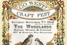 GO WEST! Craft Fest - Sept 7, 2013 / A sneek peek of what you will find on Sept 7 (with a rain date of Sept 8) at the GO WEST! Craft Fest in Philadelphia at The Woodland Cemetery. For more info check out www.gowestcraftfest.com  / by As the Crow Flies & Co