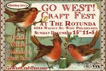 GO WEST! Craft Fest *holiday* Dec 15, 2013 / The GO WEST! Craft Fest *holiday* Dec, 15 from 11-5pm at the Rotunda 40th & Walnut, Philadelpha, Pa. A taste of what you will see when you come!  / by As the Crow Flies & Co