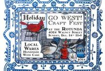Go West! Holiday Craft Fest Dec 14, '14 / The GO WEST! Craft Fest *holiday* Sunday, Dec, 14 from 11-5pm at the Rotunda 40th & Walnut, Philadelpha, Pa. A taste of what you will see when you come!