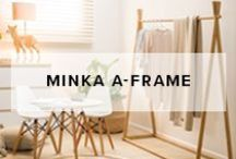 Minka A-Frame / Mocka's Minka A-Frame is a stylish bamboo hanging storage piece for both adults and children.