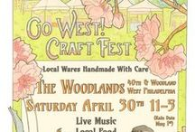 Go West! Craft Fest April 30th '16 / Held in Philadelphia on April 30 at 4000 Woodland Ave, Go West! is a craft event featuring over 100 handmade artists. Here is a curated sample of what you will find there! www.gowestcraftfest.com