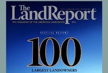 "Land Report Covers / Featuring the cover of each issue of ""The Land Report"" and links to access the digital version. / by The Land Report Magazine"