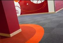 {Architecture} Colourful Schools / Colourful is a powerful tool in school building design - it can help to influence pupils mood, productivity and attitude as well as helping pupils and staff to find their way around the building.  Find out more about how colourful carpet design in schools can help children to learn: http://www.heckmondwike-fb.co.uk/blog/2013/07/school-carpet-design-how-zoning-helps-children-achieve/ / by Heckmondwike FB