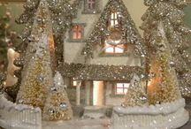 Christmas glitter houses / by Deb Hollman