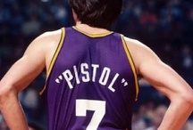 """The One, and Only, """"Pistol Pete"""" Maravich / I met Pete and his dad, Press,while living in Germany back in 1976. he asked me to help him perform during his clinic. Pete gave me the greatest advice that helped my BASEBALL career tremendously. We laughed about my success a few years later after a game against the Washington Bullets. God rest his soul and bless his message to all who play his game. Thanks Pete!"""