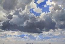 """Western Skies"" Recent Paintings by Carlos Nariño / Exhibit at Beatriz Esguerra Art, from September 20 to October 11, 2012."