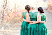 an emerald green wedding