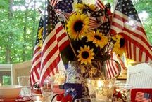 Patriotic Party Ideas / All things you need for hosting a red, white and blue party!