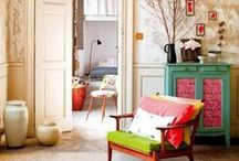 Eclectic Retreats / Fun, eclectic spaces with a touch of chic