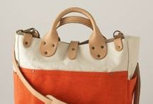 Totally Tote Bags / Leather and canvas tote bags to stylishly carry all the daily necessities and travel needs.
