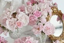 Shabby Cottage Chic / Soft, velvety colors, feminine ruffles, lace and crochet and flowers, lots and lots of flowers. Step inside our romantic shabby chic-inspired home.