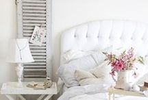 In the Bedroom / Beautiful bedrooms featuring shabby chic, French-style furniture