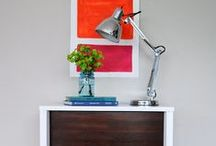 """Home Furnishings / Beautiful upholstery and home goods textiles, clean-lined furniture: sofas, chairs and benches. Pendant, chandelier and table lighting. Throws, rugs, tile, wood and concrete floors. Some """"how-to"""" and """"helpful hint"""" DIY projects too."""