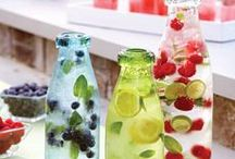 Beverages / Cool non-alcoholic drinks, healthy smoothies, spritzers, lemonade, limeade, slushes for warm weather. Hot chocolate and other warm drinks for cold days..