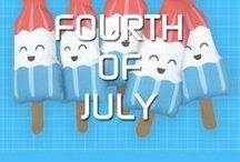 Fourth of July / Wow! 4th of July is a day for us grown ups to focus on freedom, stars, stripes and barbeques, our little ones love to celebrate Independence Day everyday!