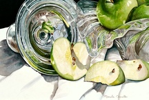 My Art /  I create unique still lifes that are bold, dramatic and express my love of details and reflective objects. I find subjects for my still life paintings in common objects that surround me daily