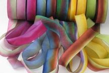 Hanna Ribbon  / Thing made with or to make out of Hanna Silk Hand Dyed Ribbons.