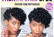 Natural Hairstyles / Faux Tapered Cut Updo on Natural Hair, Easy Natural Hairstyle, Professional Natural Hairstyle, Wedding Natural Hair style, Naptural85