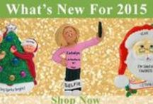 New Christmas Ornaments for 2015 / We have added new inventory to this category and will continue to throughout the year.  Each personalized Christmas ornament for 2015 has been hand selected by the owner to provide new & fresh ideas for unique keepsakes and exciting gift ideas for any occasion.  Be sure to sign in and create a wish list to keep track of your favorites.  LIKE us on Facebook, TWEET US on Twitter or PIN IT to Pinterest.   / by Personalized Ornaments for You
