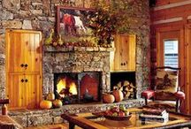 Log Cabins / Chickens,pigs, gardens, a wood stove, big kitchen and pantry, a big porch. Need a lot of land with it! Self sustaining  Now what state would you put that Castle in:) / by Mary Marshall