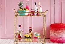 I D E A S - show me the bar / Bar Cart ideas and decor - Coffee Cart - Hot Chocolate - drink areas!