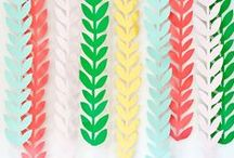 I D E A S - Gorgeous garlands / garland ideas to decorate those special celebrations and events