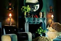 Home Decor - Great Room, Foyers, Halls / Details and concepts for fireplaces, bookshelves, furniture arrangements, colors, etc. that could work in my space.