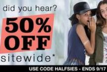 OMG - 50% off everyyythang! / Use code HALFSIES Shop this link: http://bit.ly/1KTxkTC Ends 9/17, 11PM EST
