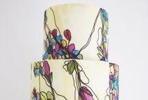 {Colourful Wedding Cakes}
