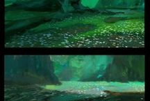 Color Keys & Animation BGs / And a little bit of concept/environment art for good measure