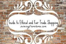 Ethical Shopping / Purchases that make a difference - support work and ministry around the world with ethical, fair trade items.