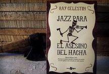 """""""Jazz para el Asesino del Hacha"""", de Ray Celestin / Nueva Orleans, 1919. Un peculiar asesino en serie, que mata con un hacha, lanza un peculiar desafío a todos los habitantes de Nueva Orleans a través de la prensa: o suena jazz en sus casas el martes a las 12.15 de la noche o se arriesgan a ser sus próximas víctimas. Y todo ello cuando el cielo se va oscureciendo y una gran tempestad amenaza con anegar la ciudad…  """"Jazz para el Asesino del Hacha"""" está basada en una historia real que estremeció el Nueva Orleans de 1919"""