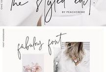 Typography / Typography inspiration, fonts and calligraphy, best free fonts, brush fonts, best fonts for bloggers, best fonts for designers