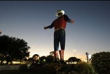 Big Tex® / Howdy Folks! Big Tex made his debut at the 1952 State Fair of Texas. Wearing size 70 boots and a 75 gallon hat, Tex towered 52 feet above wide-eyed State Fair of Texas visitors. On October 19, 2012, Big Tex was destroyed by an electrical fire. However, the State Fair of Texas was committed to rebuilding Big Tex in 2013.