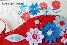 Designer for Kunin Felt / DIY & Craft tutorials featuring felt. Laura Bray is a professional design team member for Kunin Felt. / by Laura Bray Designs