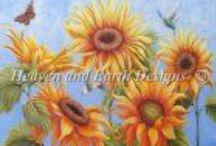 Cross Stitch - Flowers / by Gwen Toews