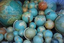 Global love affair. / my obsession with globes, orbs, maps and spherical objects. / by ⭐ ✈ KÅī ✈ ⭐