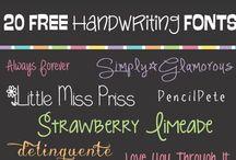 Fonts / by Sue Bockrath