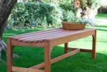 Benches .  . . For The Yard / Outdoor Benches . . . backless, garden, kids benches, park and personalized. Wood, oak, pine, metal, steel. / by Back Yard Ideas