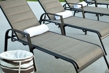 Shop . . . Chaise Loungers / Find the perfect Chaise Lounge for your patio or pool side. Choose from a large selection of #Aluminum styles. / by Back Yard Ideas