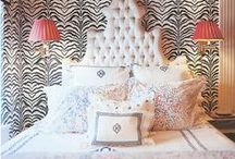 ANIMAL PRINTS / Are they a neutral? An eclectic note?    Somehow they work; almost everywhere.