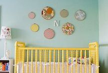 turquoise, yellow, grey nursery / by room to bloom