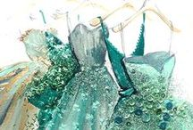 The hues of Emerald / Every single thing is green. The color green as well as the concept of green.