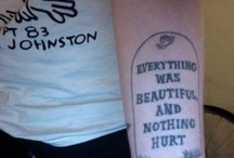 literary tattoos / If I ever get a tattoo it will be a bookish one