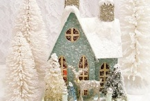 Putz Glitter Houses / by Vicki Baker